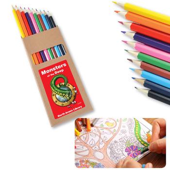 ColouredFullLengthColouringPencilsPK10