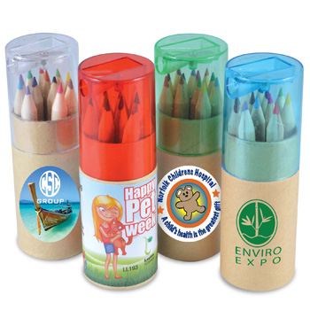 ColouredPencilsinCardboardTube